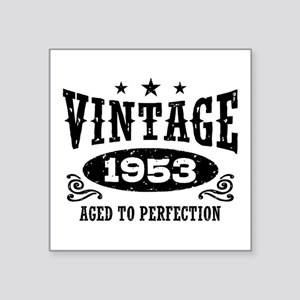 "Vintage 1953 Square Sticker 3"" x 3"""