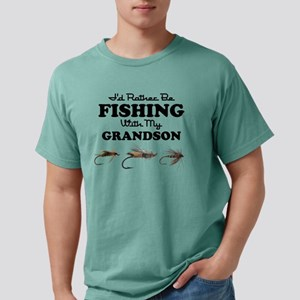 Rather Be Fishing Grandson Mens Comfort T-Shirt