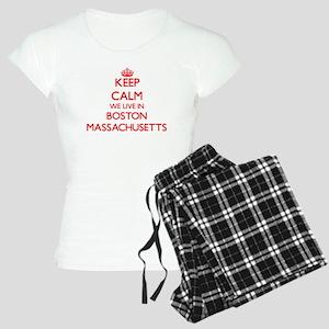 Keep calm we live in Boston Women's Light Pajamas