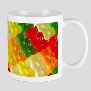 Colorful rows of gummi bears Mugs