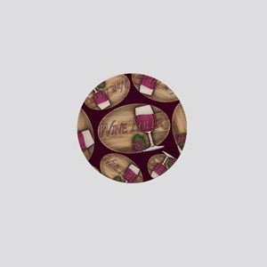 Wine Lover Wood Board Mini Button