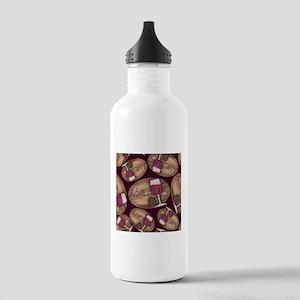 Wine Lover Wood Board Water Bottle