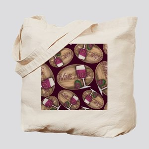 Wine Lover Wood Board Tote Bag