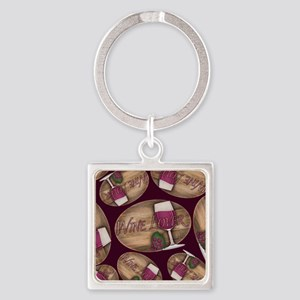 Wine Lover Wood Board Keychains