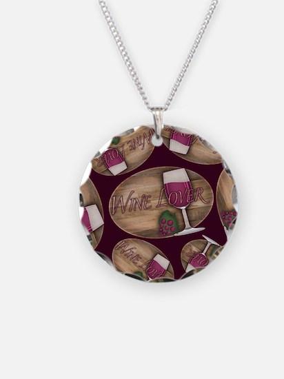 Wine Lover Wood Board Necklace