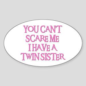 TWIN SISTER Oval Sticker