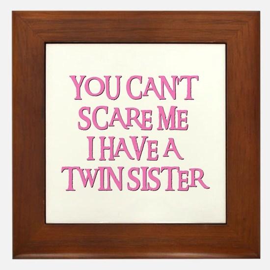 TWIN SISTER Framed Tile