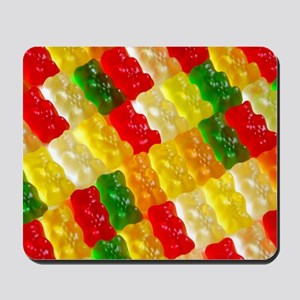 Colorful rows of gummi bears Mousepad