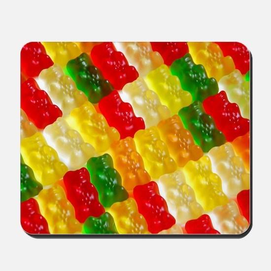 Colorful rows of gummi bears Mousepad