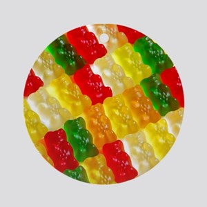 Colorful rows of gummi bears Ornament (Round)