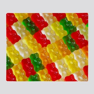 Colorful rows of gummi bears Throw Blanket