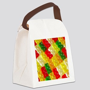 Colorful rows of gummi bears Canvas Lunch Bag