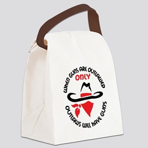 WHEN GUNS ARE OUTLAWED Canvas Lunch Bag
