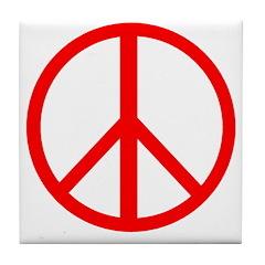 Peace Red Tile Coaster