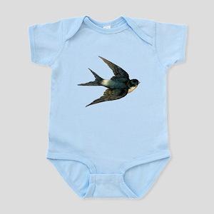 Vintage Swallow Bird Art Body Suit