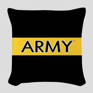 U.S. Army: Army (Gold Stripe) Woven Throw Pillow
