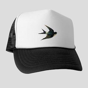 Vintage Swallow Bird Art Trucker Hat