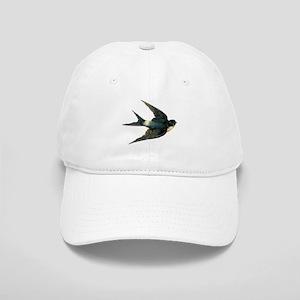 Vintage Swallow Bird Art Cap