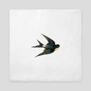 Vintage Swallow Bird Art Queen Duvet