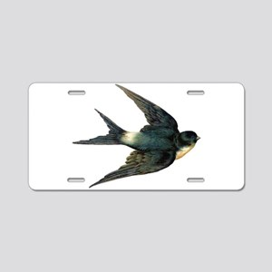 Vintage Swallow Bird Art Aluminum License Plate