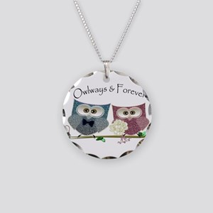 Owlways & Forever Cute Owls Necklace Circle Charm