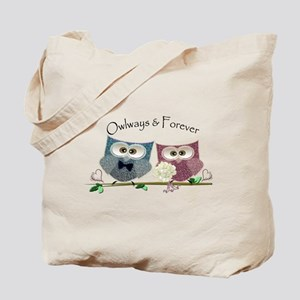 Owlways & Forever Cute Owls art Tote Bag