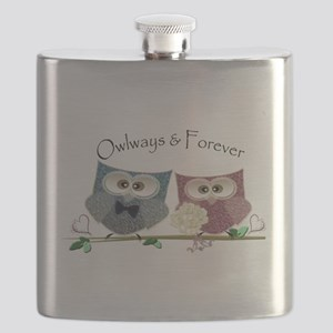 Owlways & Forever Cute Owls art Flask
