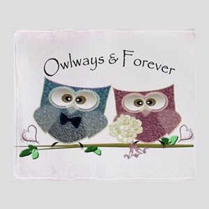 Owlways & Forever Cute Owls art Throw Blanket