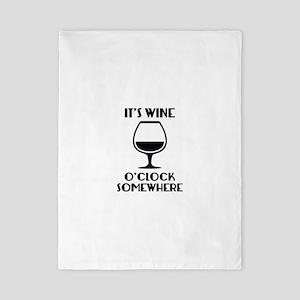 It's Wine O'Clock Somewhere Twin Duvet