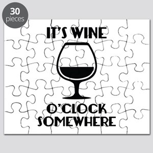 It's Wine O'Clock Somewhere Puzzle