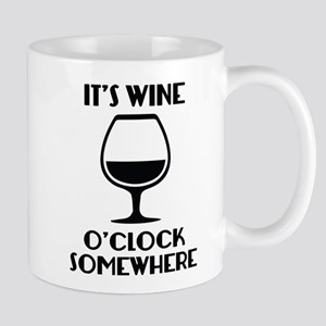 It's Wine O'Clock Somewhere Mug