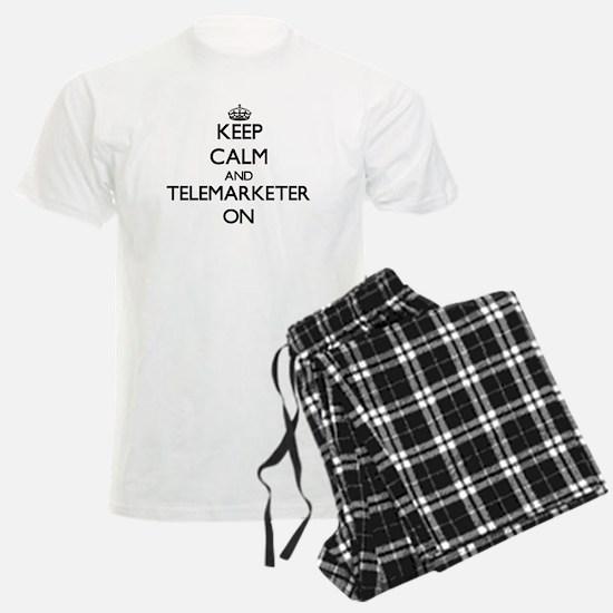 Keep Calm and Telemarketer ON Pajamas