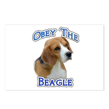 Obey Beagle Postcards (Package of 8)