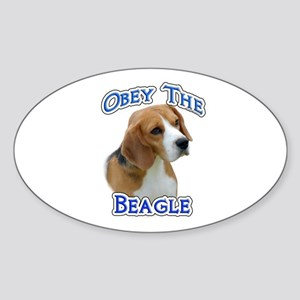 Obey Beagle Oval Sticker