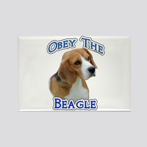 Obey Beagle Rectangle Magnet