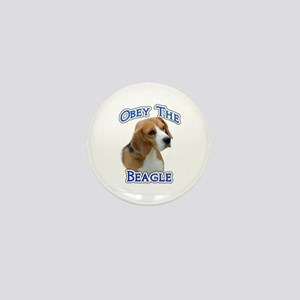 Obey Beagle Mini Button