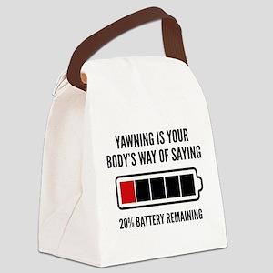 Yawning Canvas Lunch Bag