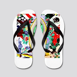 Virgin Mary - Our Lady (Señora) of Guad Flip Flops