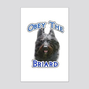 Obey Briard Mini Poster Print