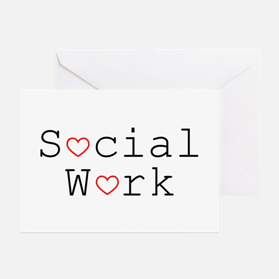 Social Work Hearts Greeting Cards (Pk of 10)