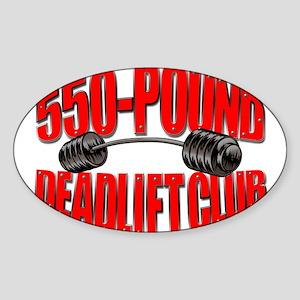 550-POUND DEADLIFT Oval Sticker