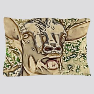 Nigerian Dwarf Goat In Gold Pillow Case