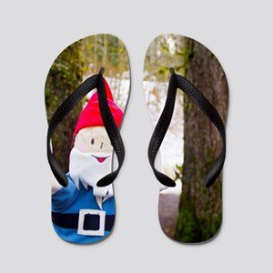 Winter Forest Gnome Flip Flops
