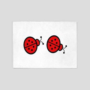 Lady bugs art 5'x7'Area Rug