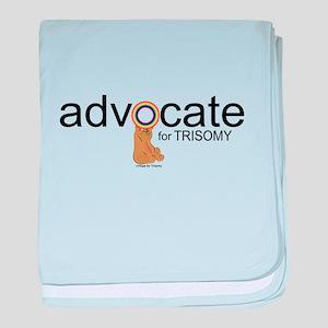 Advocate for Trisomy (Bear) baby blanket
