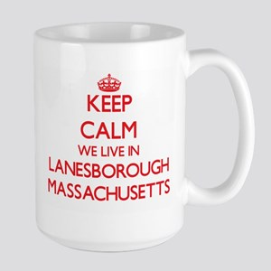 Keep calm we live in Lanesborough Massachuset Mugs