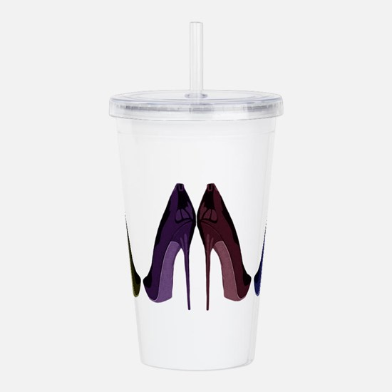 Pretty Shoes All In A Acrylic Double-wall Tumbler
