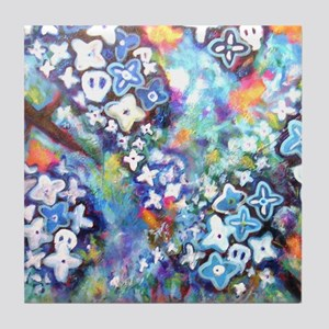 Bickman 'Blue Trees' Tile Coaster