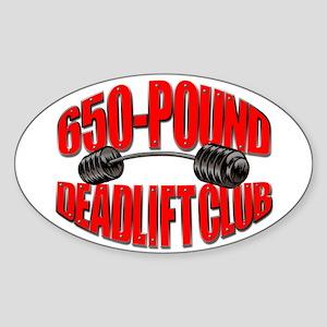 650-POUND DEADLIFT Oval Sticker