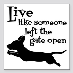 "OPEN GATE! Square Car Magnet 3"" x 3"""